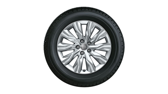 Winterkomplettrad im 10-Arm-Gravis-Design, brillantsilber, 7,5 J x 18, 225/45 R18 95H XL, links