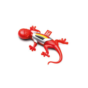 Air freshener gecko, Belgian version, red, spicy