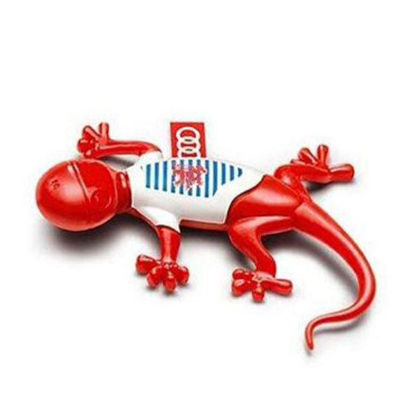 Air freshener gecko, Luxembourgian version, red, spicy