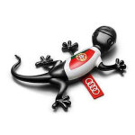 Air freshener gecko, Portuguese version, black, spicy