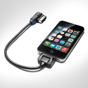 Cavo adattatore per Audi music interface, Per dispositivi Apple con Dock Connector, custodia blu.