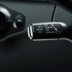 Retrofit solution for the cruise control system, for vehicles without a multifunction steering wheel