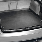 Luggage compartment inlay, for vehicles with a foldable rear seat bench