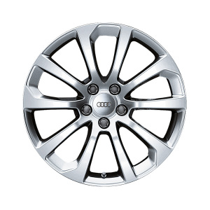 Cast aluminium wheel in 10-spoke design, royal silver, 8 J x 18