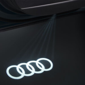 Entry LED, Audi rings, for vehicles with halogen entry lights