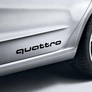 quattro decals, brilliant black
