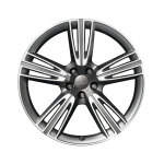 Cast aluminium wheel in 5-tri-spoke design, anthracite, high-gloss turned finish, 8.5 J x 20