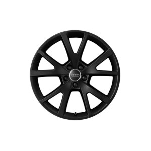 Cast aluminium winter wheel in 5-V-spoke design, matt black, 7.5 J x 18