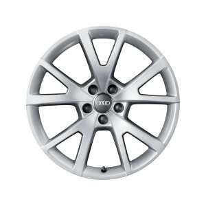 Cast aluminium winter wheel in 5-V-spoke design, brilliant silver, 7.5 J x 18