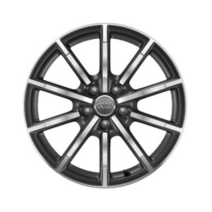 Cast aluminium wheel in 10-spoke design, matt titanium high-gloss turned finish, 8.5 J x 19