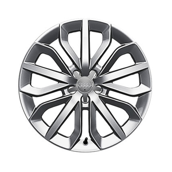 Cast aluminium wheel in 15-spoke star design, brilliant silver, 8.5 J x 19