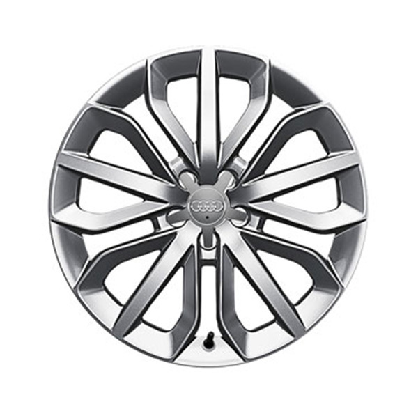 Cast aluminium winter wheel in 15-spoke star design, brilliant silver, 7.5 J x 19