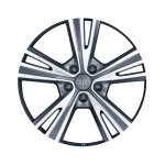 Cast aluminium wheel in 5-semi-V-spoke design, anthracite, high-gloss turned finish, 8.5 J x 19