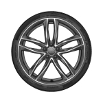 Wheel, 5-twin-spoke, matt titanium grey, high-gloss turned finish, 8.5Jx20, tyre 255/35 R20 97Y XL