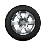 Complete winter wheel in 6-arm design, brilliant silver, 7.5 J x 17, 225/55 R 17 97H