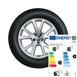 Complete winter wheel in 5-V-spoke design, brilliant silver, 7.5 J x 18, 225/50 R 18 99H XL