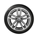 Complete winter wheel in 5-twin-spoke design, high-gloss, 9.5 J x 21, 285/30 R 21 100W XL, right
