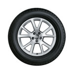 Complete winter wheel in 5-V-spoke design, brilliant silver, 7.5 J x 18, 225/50 R18 99H XL, right