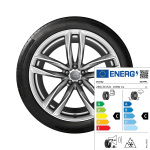 Complete winter wheel in 5-twin-spoke design, high-gloss, 9.5 J x 21, 285/30 R 21 100W XL, left
