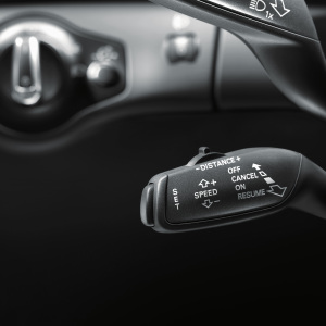 Retrofit solution for the cruise control system, for vehicles without a lane assist system