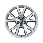 Cast aluminium winter wheel in 5-V-spoke design, brilliant silver, 8 J x 19