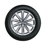 Complete winter wheel in 10-spoke design, brilliant silver, 8 J x 19, 235/45 R19 99V XL, right