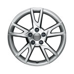 Cast aluminium winter wheel in 5-arm semi-Y design, brilliant silver, 7 J x 18