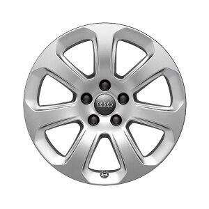 Cast aluminium winter wheel in 7-arm design, brilliant silver, 7.5 J x 17