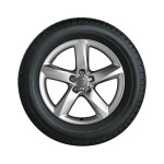 Complete winter wheel in 5-arm design, brilliant silver, 7.5 J x 19, 235/50 R 19 103H XL, right