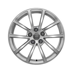 Cast aluminium winter wheel in 10-spoke design, brilliant silver, 7.5 J x 17