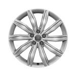 Cast aluminium winter wheel in 10-spoke dynamic design, brilliant silver, 8 J x 19