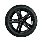 Complete winter wheel in 5-arm ramus design, black-gloss finish, 8 J x 19, 245/45 R 19 102V XL, left