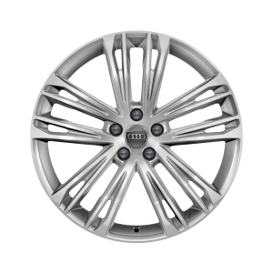 Cast aluminium winter wheel in 5-twin-spoke V design, brilliant silver, 8.5 J x 18