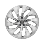 Cast aluminium winter wheel in 10-arm turbine design, brilliant silver, 8 J x 18