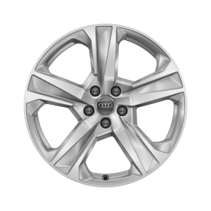 Cast aluminium winter wheel in 5-arm dynamic design, brilliant silver, 8 J x 19