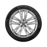 Complete winter wheel in 5-twin-spoke V design, brilliant silver, 8.5 J x 20, 255/40 R20 101W XL, right