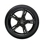 Complete winter wheel in 5-arm ramus design, black-gloss finish, 8.5 J x 20, 255/40 R20 101W XL, right