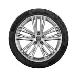 Complete winter wheel in 5-twin-spoke V design, brilliant silver, 8.5 J x 20, 255/40 R 20 101V XL, right