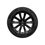 Wheel, 5-V-spoke astrum, black, 8.5Jx20, winter tyre 245/45 R20 103W XL, right