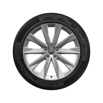 Wheel, 5-V-spoke astrum, brilliant silver, 8.5Jx20, winter tyre 245/45 R20 103W XL, right