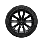 Complete winter wheel in 5-V-spoke astrum design, black-gloss finish, 8.5 J x 20, 245/45 R 20 103W XL, left