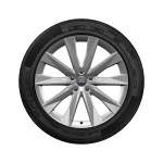 Complete winter wheel in 5-V-spoke astrum design, brilliant silver, 8.5 J x 20, 245/45 R 20 103W XL, left