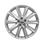 Cast aluminium winter wheel in 10-spoke lamina design, brilliant silver, 9 J x 20