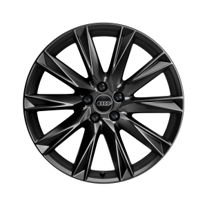 Cast aluminium winter wheel in 10-spoke lamina design, black-gloss finish, 9 J x 20