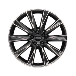 Cast aluminium wheel in 10-spoke lamina design, matt black, high-gloss turned finish, 9.5 J x 21