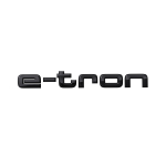 Model name, e-tron in black, for the rear