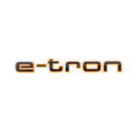 e-tron logo in black, for the wing