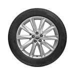Complete winter wheel in 10-spoke lamina design, brilliant silver, 9 J x 20, 255/50 R 20 109H XL