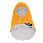 Swaddle blanket, grey/orange/black