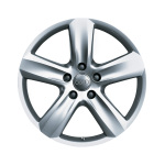 Cast aluminium wheel in 5-arm design, royal silver, 9 J x 20